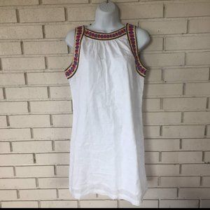 Gap Embroidered Neckline Lightweight Dress Size: S